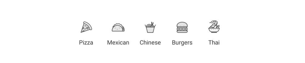 значки їжі